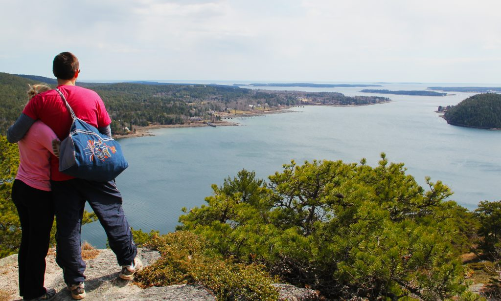 Acadia Mountain Trail overlooking Somes Sound